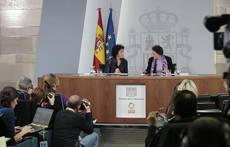 Rueda de prensa celebrada tras el último Consejo de Ministros.