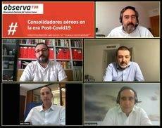 Imagen de los participantes en el webinar.