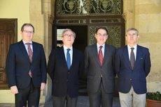 La visita de los representantes empresariales al Palacio de Congresos de Córdoba.