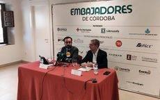 Ángel Herrador y Juan Salado durante la presentación del balance.