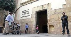 La entrada al Palacio de Congresos de Córdoba antes del cierre para su reforma.