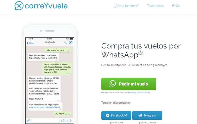 Nace el primer 'chatbot' español para reservar vuelos