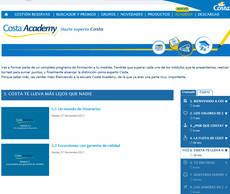 La plataforma Costa Academy se estructura en diez módulos.
