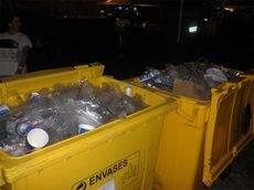 Ejemplo de recogida selectiva de plástico en una de las últimas ediciones de DCODE.
