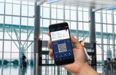 El 'check-in' con la aplicación móvil ahorra tiempo a los pasajeros.