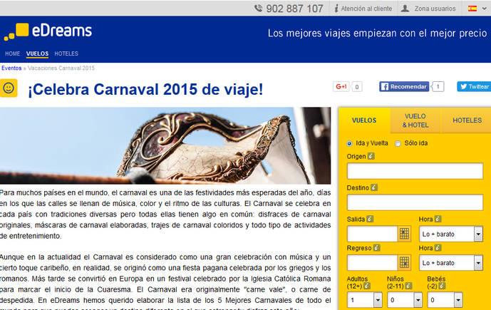 Barcelona, Canarias y Galicia, destinos estrella de Carnaval