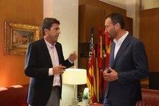 El presidente de la Diputación de Alicante, Carlos Mazón, y el alcalde de Elche, Carlos González.