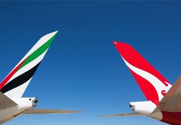 Emirates y Qantas amplían su convenio colaborativo