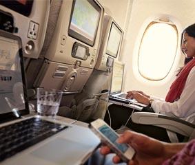 Emirates amplía su servicio gratuito de Wi-Fi a bordo