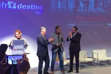 Entrega del premio a Mabrian Technologies.
