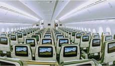 Interior de uno de los aviones de Ethiopian Airlines.
