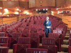 Andoni Aldekoa, en el Auditorium del Palacio Euskalduna.