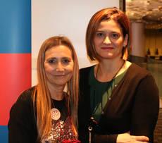 La vicepresidenta de ECTAA, Eva Blasco, con la gerente de CEAV, Mercedes Tejero.