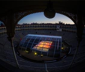 Presentación de una nueva lente en la Plaza de Toros de Las Ventas de Madrid