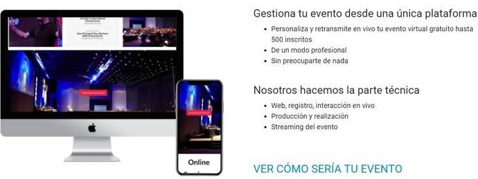 Eventscase Lite: paquete de eventos virtuales rebajado
