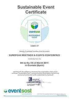 La certificación de Evensost para EMEC 2017.