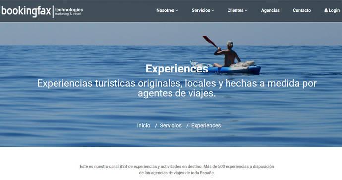 Experiences, de Bookingfax, supera el millón de consultas y crece en oferta