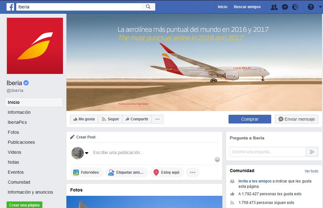 Facebook ayuda a las aerolíneas con la venta directa