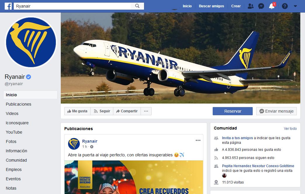 Ryanair e Iberia, las más activas en las redes sociales