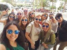 Los agentes de viajes en el 'fam trip' a Mallorca.