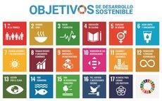 Los 17 Objetivos de Desarrollo Sostenible.