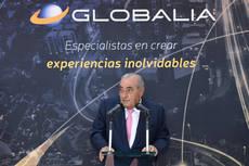 El presidente de Globalia, Juan José Hidalgo, en el acto de presentación.