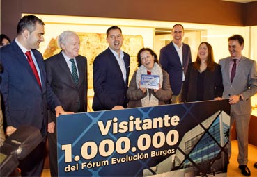 El Fórum Evolución de Burgos recibe su visitante un millón