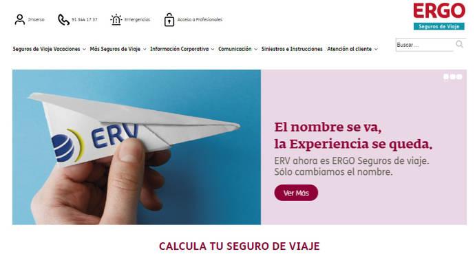 ERV completa su cambio de marca y pasa a denominarse ERGO Seguros de Viaje