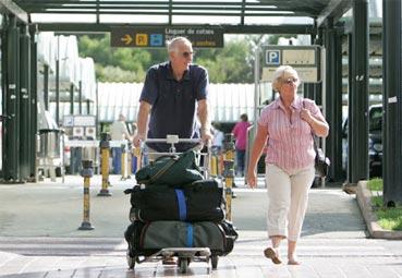 Las llegadas de pasajeros caen un 80% en septiembre