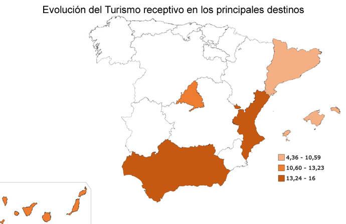 Cataluña, la que menos aprovecha el 'boom' del receptivo