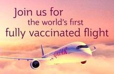 Primer vuelo 100% vacunado contra la COVID-19