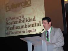 El presidente de Futuralia, Eugenio de Quesada, interviene en el Foro.