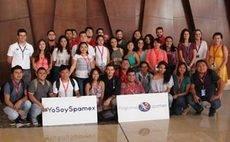 Estudiantes mexicanos visitan el Palacio de Málaga