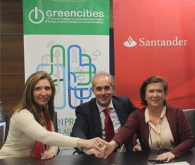 Banco Santander aportará contenido al foro Greencities