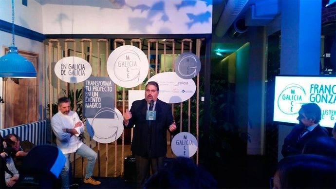 La intervención del presidente del Clúster de Turismo de Galicia, Francisco González.