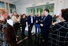 El consejero de Cultura y Turismo, Román Rodríguez, en el encuentro de Galicia MICE en Santiago de Compostela.