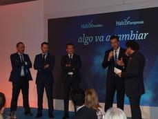 El director de la división minorista, José María Hoyos, en la presentación de la marca.