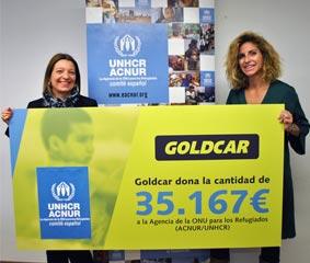 Goldcar dona más de 35.000 euros al Comité español de ACNUR