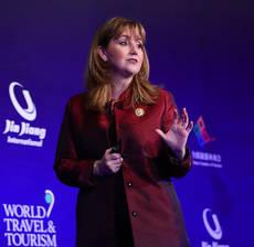 La presidenta y directora ejecutiva de WTTC, Gloria Guevara.