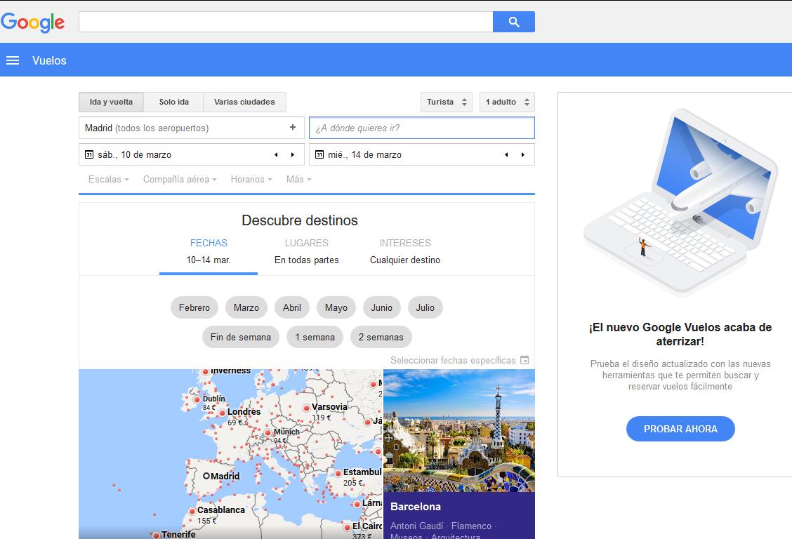Trayectoria exitosa de Google Flights, pero con matices