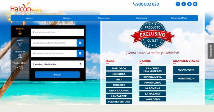 Trasformación digital de Globalia: Halcón estrena web con productos exclusivos
