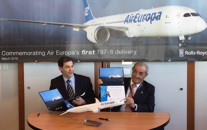 Air Europa recibe el primer Boeing 787 Dreamliner