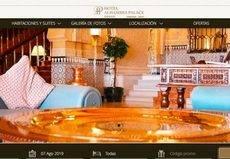 El Hotel Alhambra Palace de Granada renueva su web