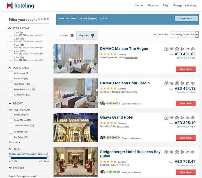 Hoteling desembarca en los Emiratos Árabes
