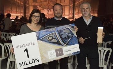 El Palacio de Huesca recibe a su visitante un millón