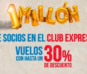 Iberia Express llega al millón de socios en el Club Express