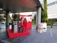 Una de las visitas de Iberia a las agencias.
