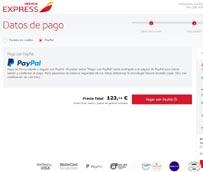 Iberia Express introduce PayPal como método de pago