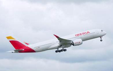 Iberia recibe el primero de los 16 aviones A350-900