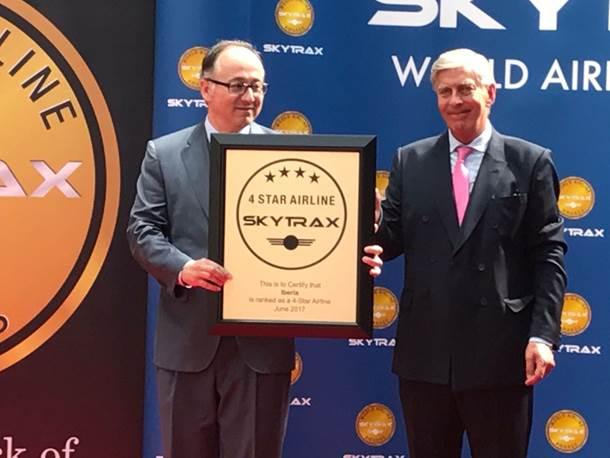 Iberia y Norwegian, entre los premiados por Skytrax